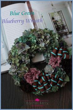 Blue Green Blueberry Wreath|Rachel Berry the Secret Attic