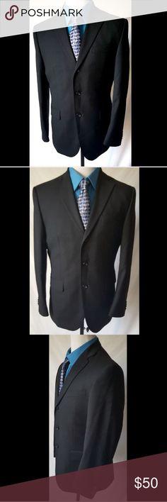 Banana Republic Men's  Wool Black Suit Jacket 42R Banana Republic Modern 100% Wool Black Suit Jacket Blazer 3 Buttons siz3 42R Banana Republic Suits & Blazers Sport Coats & Blazers