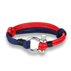 National Flag Bracelets Woven Rope With Leather Survival Bracelet Friendship Gifts Jewelry Men Lovers Metal Color Cheap Bracelets, Trendy Bracelets, Crystal Bracelets, Bracelets For Men, Fashion Bracelets, Fashion Necklace, Silver Necklaces, Anchor Bracelets, Bangles