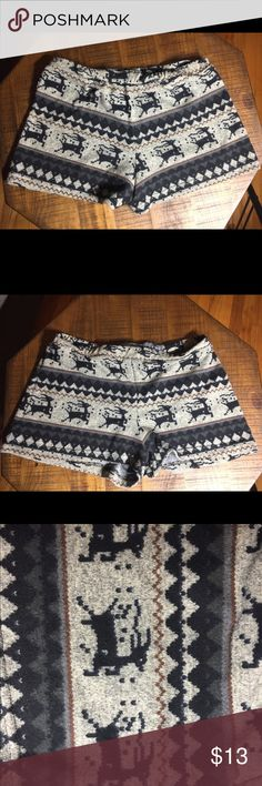 Fair Isle Printed Knit Shorts Fair Isle printed knit shorts. Deer pattern. Size M/L. offers welcome 🚫 trades Delia's Shorts