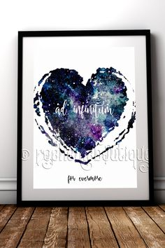 Show your undying love with this unique 'Ad Infinitum' meaning 'For Evermore' fine art print #RockChicBoutique #Love #ValentinesDay #WallArt