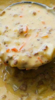 Crock Pot Cheeseburger Soup