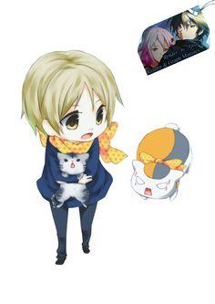 Render Animes et Manga - Renders Natsume Yuujinchou Takashi Nyanko chat echarpe garcon Pacte des Yokai