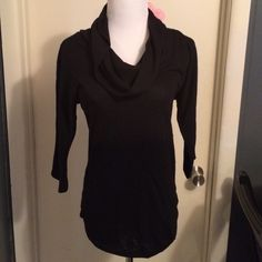 ✨MAKE OFFER✨ Cowl Neck Sweater Cowl neck, lightweight, sweater top. Black. Minimal pilling. Super comfortable. ✅Offers welcome. ✅Bundle and save. Sweaters Cowl & Turtlenecks