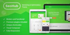 Download and review of SEOHub - SEO & Marketing WordPress Theme, one of the best Themeforest Corporative themes