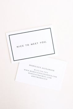 In Haus Press: Letterpress Calling Cards
