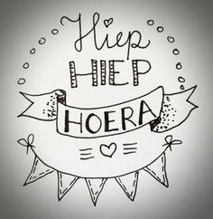 Handlettering by Wiek - Hiep hiep hoera