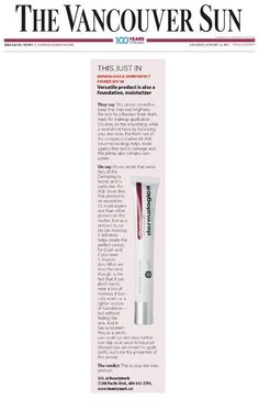 "BEAUTYMARK | Dermalogica's SkinPerfect Primer SPF30 featured in @Lara Sun – their verdict: ""this is your new star product."""