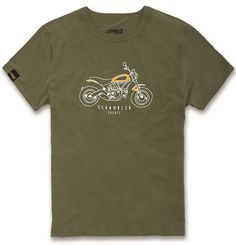 T-shirt Ducati HERITAGE SCRAMBLER #ducati #scrambler