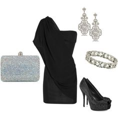 Christmas or the symphony : )  One shoulder dress.  Classy.