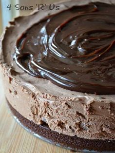 No Bake, Hot Fudge Brownie Cheesecake