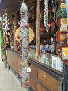CHILE - Handmade earrings.Feast in Calle Isidoro Duvurnais 1, Isla Negra (next to Neruda's home)