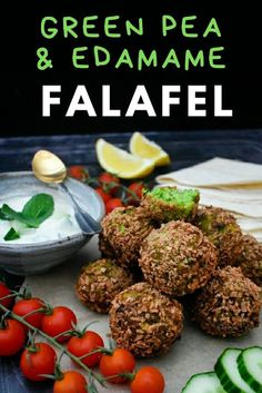 Green Edamame & Pea Falafel are perfect for lunchboxes or for a light dinner served with salad. They are also great on wraps and pitta bread with hummus and salad. Side Recipes, Vegetable Recipes, Vegetarian Recipes, Healthy Recipes, Healthy Food, Vegan Meals, Vegan Food, Salad Recipes, Sloppy Joe