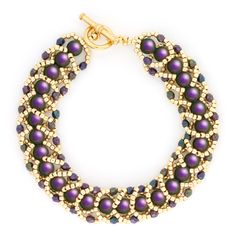 Grace and Elegance Bracelet from Fusion Beads - Free PDF  #Seed #Bead #Tutorials