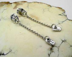 Pebble Post Dangles; fine and sterling silver; kathy van kleeck