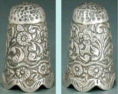 Ornate Antique Sterling Silver Thimble *India/English Import * Circa 1890