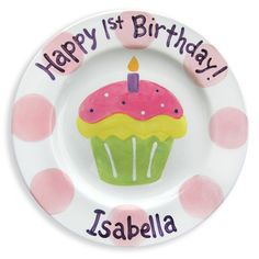A special, personalized birthday plate for the birthday girl to use on her birthday ... and every birthday to follow.  Might be corny, but I like traditions :-)