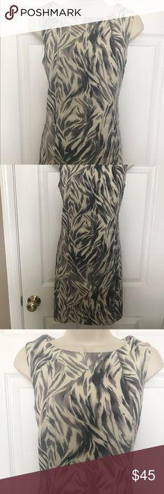 ⭐️ SALE ⭐️ TALBOTS Animal Print Dress 👗 TALBOTS animal Print Dress... colors are black, white and gray. Worn one! Excellent Condition! Talbots Dresses