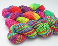 CMY  Hand Dyed Yarn  Dyed to Order by DyeabolicalYarns on Etsy, $20.00