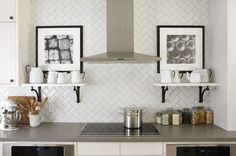 Herringbone Patterned Back splash...Love