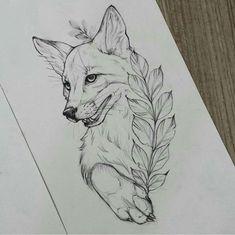 fuchs fuchs tattoo design - The world's most private search engine Tattoo Sketches, Tattoo Drawings, Drawing Sketches, Art Drawings, Drawing Ideas, Tattoos Motive, Bild Tattoos, Fox Tattoo Design, Tattoo Designs
