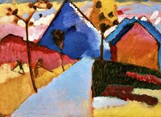 Kochel - Straight Road  Wassily Kandinsky- 1909