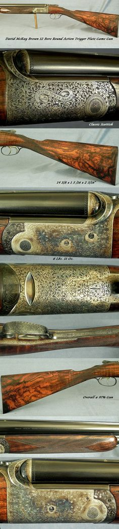 """#7524, David McKay Brown (Gunmakers), 32, Hamilton Road, Bothwell, Scotland: A McKay Brown 12 Bore Round Action Improved Trigger Plate Lock Over & Under Game Gun Made in 1993 with 28"""" Demi-Block Solid Rib barrels by their barrel maker Mr. Jim McDonald, The bores at .738 .006 & .007"""" (Skt.I & Skt.I),"""