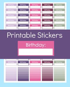 New to CommandCenter on Etsy: Birthday Stickers for Planner Erin Condren Planner Stickers Printable Planner Stickers Erin Condren Birthday Stickers Erin Condren Print (1.99 USD)