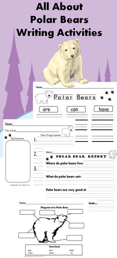 Students will love sharing what they have learned about polar bears after reading books and class discussions on these graphic organizers and writing report activities.