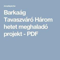 Barkaág Tavaszváró Három hetet meghaladó projekt - PDF Spring Crafts, Education, School, Creative, Easter, Projects, Easter Activities, Schools, Teaching