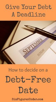 Tips for setting a debt free date and why you should do it!  |  SixFiguresUnder.com