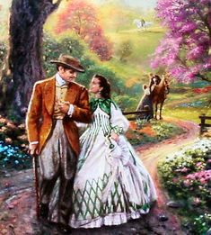 Gone With The Wind / Thomas Kinkade. My favorite movie done by my favorite artist? Kinkade Paintings, Oil Paintings, Vivien Leigh, Thomas Kinkade Art, Thomas Kincaid, Art Thomas, Tomorrow Is Another Day, Gone With The Wind, Old Movies