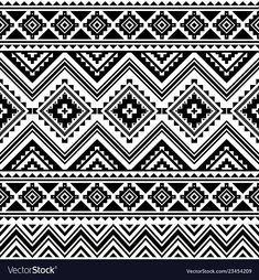 Tribal ethnic seamless pattern vector image on VectorStock Tribal Pattern Wallpaper, Tribal Pattern Art, Aztec Art, Ethnic Patterns, Print Patterns, Image Tribal, Geometric Shapes Art, Geometric Patterns, Vintage Typography