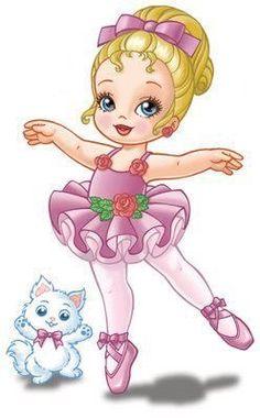 b--- very pretty ballerina Baby Painting, Fabric Painting, Cartoon Pics, Cute Cartoon, Cute Images, Cute Pictures, Pretty Ballerinas, Ballerina Dancing, Cute Clipart