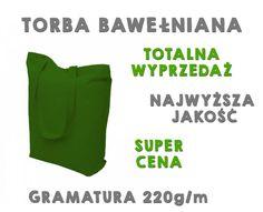 e4a115ff38c4d OKAZJA zielona torba torebka bawełniana WYPRZEDAŻ - 5768952976 - oficjalne  archiwum allegro