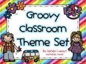 Groovy Theme Classroom Set product from Natalies-Nook on TeachersNotebook.com