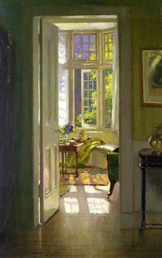 Interior, Morning by Patrick William Adam (b. 1854; Edinburgh Scotland – d. 1929; North Berwick, Scotland) Oldham Art Gallery
