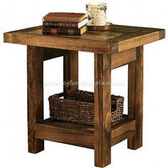 Wyoming Reclaimed Barnwood End Table | reclaimed barnwood end table- Cabin decor