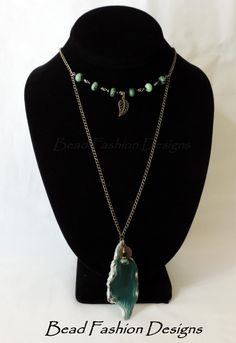 Green Agate Slab Ruby in Zostite Black round by BeadFashionDesigns
