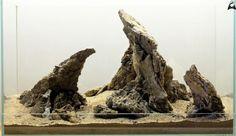 Hardscape by Ancient Stone Be inspired Nano Aquarium, Aquarium Design, Planted Aquarium, Aquarium Fish, Wargaming Terrain, Real Plants, Aquascaping, Betta Fish, Betta Tank