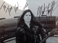 Mark Slaughter autographed a picture for me. What a nice guy! :)