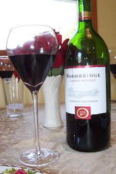 Woodbridge by Robert Mondavi Cab - A wine with notes of toasted oak, cherry and blackberry.  Not bad for 11.99 not to mention its a MAGNUM!