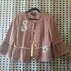 Bcbg Max Azaria Sequin Embellished Jacket