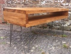 Solid Wood Industrial Retro Coffee Table With Hairpin Legs in Home, Furniture & DIY, Furniture, Tables | eBay