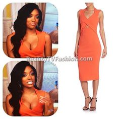 #PorshaWilliams' Orange Cut-Out Dress #RHOA