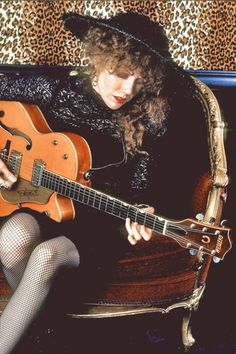 It began as a mistake.... Poison Ivy from the Cramps with her Gretsch 6120.