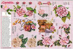 Encyclopedie du point de croix (Fleurs arbres et feuilles) Cross Stitch Flowers, Cross Stitch Patterns, Peony Flower, Le Point, Pattern Books, Needlepoint, Peonies, Vintage World Maps, Crafty