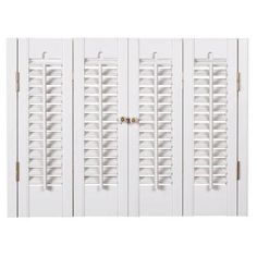 HOMEbasics Traditional Faux Wood White Interior Shutter (Price Varies by Size)-QSTA3128 at The Home Depot