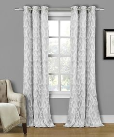 Look what I found on #zulily! Silver Martina Curtain Panel - Set of Two by Duck River Textile #zulilyfinds