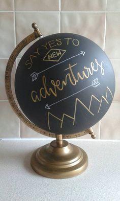 Hand Painted Globe 8. Chalkboard Globe